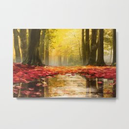 Cozy Forest Metal Print