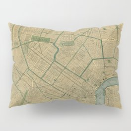 Vintage Map of New Orleans Louisiana (1893) Pillow Sham