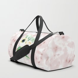 Impermanent Flowers in Pink Duffle Bag