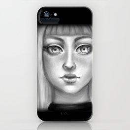 B&W Girl iPhone Case