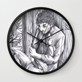 Hannibal - Abigail and Will  Wall Clock