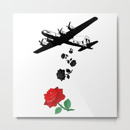 Falling roses over you - Falling in love - Pop Culture Metal Print