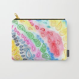 Paisleys over watercolor Carry-All Pouch