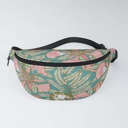 Poinciana Tropical Summer // Hand drawn Pattern Fanny Pack