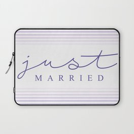 Just married calligraphic typography Laptop Sleeve