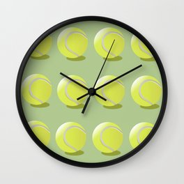 Tennis Ball Pattern Wall Clock