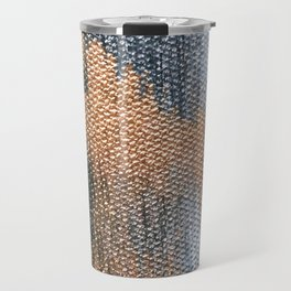 Rose Gold Dream - Abstract Oil Painting Travel Mug