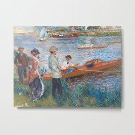 Pierre-Auguste Renoir - Oarsmen at chatou Metal Print