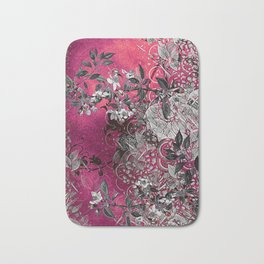 Pink Chinese Silk Bath Mat