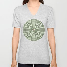 The maze to your heart Unisex V-Neck