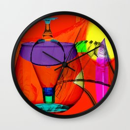 Table Shots Wall Clock