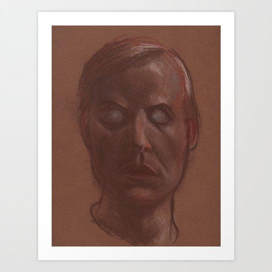 Zombie Self Portrait Art Print