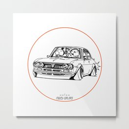 Crazy Car Art 0187 Metal Print