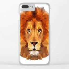 Geometric Lion Clear iPhone Case