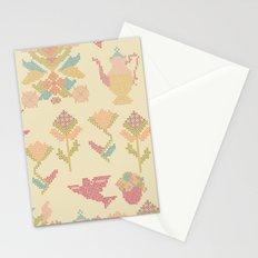 Cross Stitch Tea Party Stationery Cards
