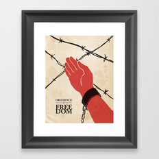 OBEDIENCE is FREEDOM - one Framed Art Print