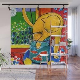 Henri Matisse - Cat With Red Fish still life painting Wall Mural