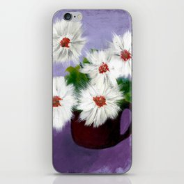 Daisies in a Cup iPhone Skin