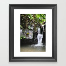 Waterfall in Trinidad Framed Art Print