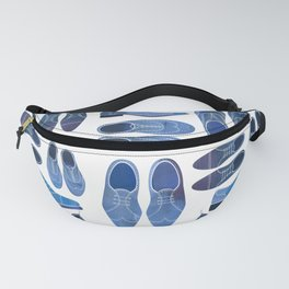 Blue Brogue Shoes Fanny Pack