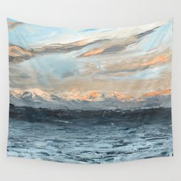 Olympic Mountain Morning Sun Wall Tapestry