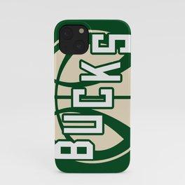 Bucks basketball vintage green logo iPhone Case