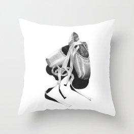Ballet Shoes Throw Pillow