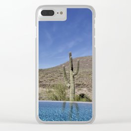 Water- Pool View Clear iPhone Case