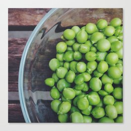 Bowl of Peas Canvas Print
