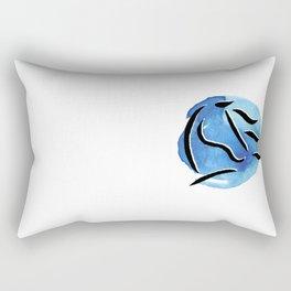 Spirit Horse {Blue Watercolor} Rectangular Pillow