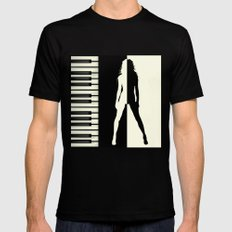 My sound of music MEDIUM Black Mens Fitted Tee