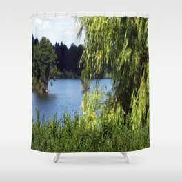 Idyll on the Lake Shower Curtain