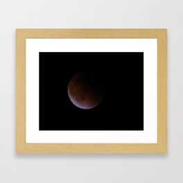 Supermoon Eclipse 5 Framed Art Print