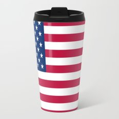 Flag of USA - American flag, flag of america, america, the stars and stripes,us, united states Metal Travel Mug