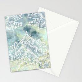 MANDALA ON MARBLE Stationery Cards