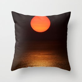 The Smoke Filtered Light from the Sonoma County Fires Throw Pillow