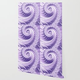 Ultra Violet Luxe Spiral Pattern | Trendy Color of the Year 2018 Wallpaper