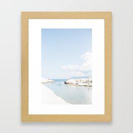 Milos Beach Day Framed Art Print