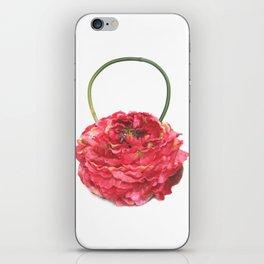 Pink Peony Handbag iPhone Skin