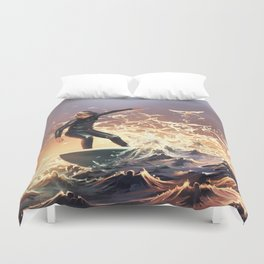 Nature emerges from her slumber Duvet Cover