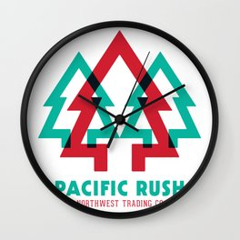 Pacific Rush Trees Wall Clock