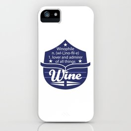 Cute & lovely Admirer Tee Design Winophile iPhone Case