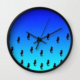 Under the Sea(horse)-Dark to Light Wall Clock