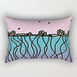 Underwater Lilies Rectangular Pillow