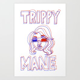 Trippy Mane Art Print