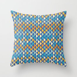 Retro pattern of triangles Throw Pillow