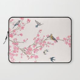 Birds and cherry blossoms Laptop Sleeve