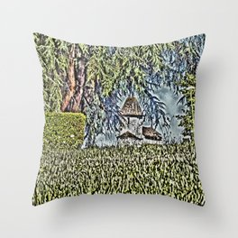 A Middle Ages Church Throw Pillow
