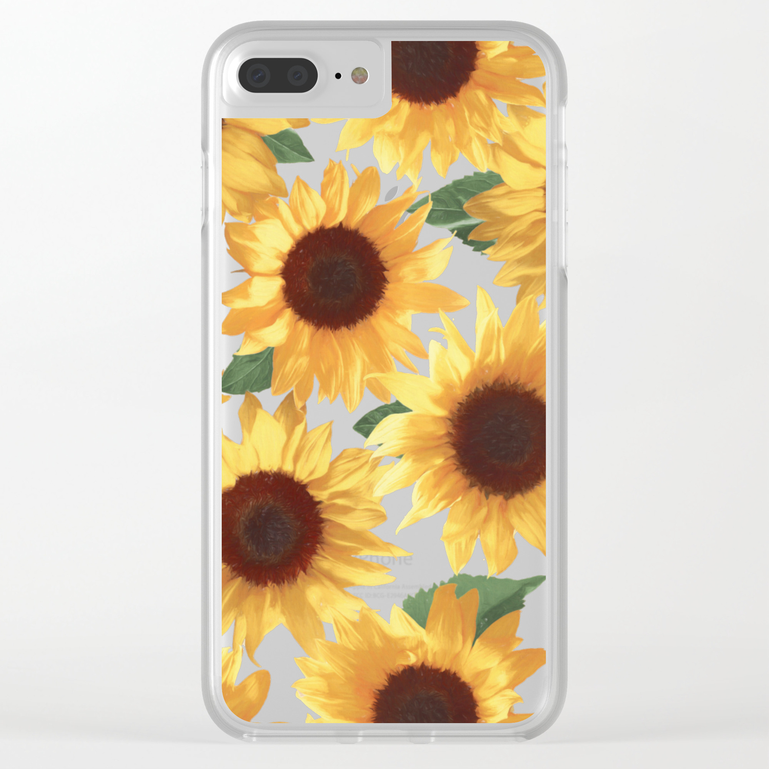 sports shoes d36fe 5d902 Happy Yellow Sunflowers Clear iPhone Case
