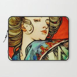 """Alphonse Mucha """"Portrait of a Young Woman"""" Laptop Sleeve"""